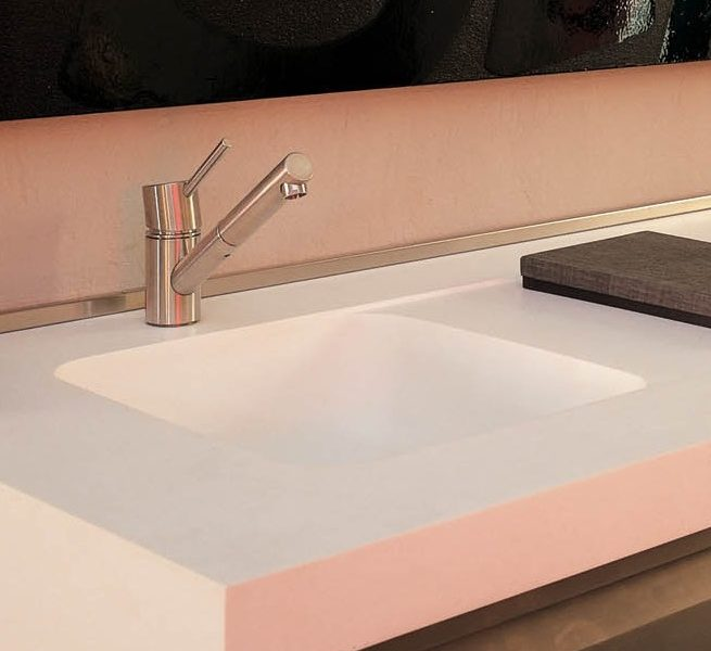 Sweet 804 Integrated Corian Sink