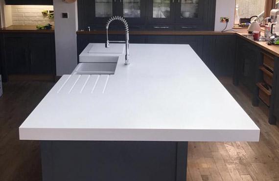 Bev Lindsey – Corian Neutral Concrete Review - UK Worktops Direct™